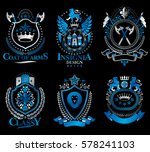 set of vector vintage emblems... | Shutterstock .eps vector #578241103