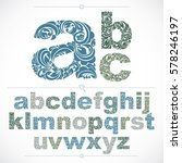 floral alphabet sans serif... | Shutterstock .eps vector #578246197