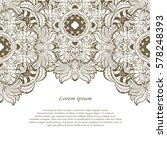 vintage frame. decorative... | Shutterstock .eps vector #578248393