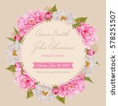 wedding invitation card  save... | Shutterstock .eps vector #578251507