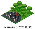 trendy isometric people 3d...   Shutterstock .eps vector #578252197