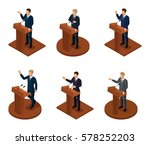 trendy isometric people 3d... | Shutterstock .eps vector #578252203