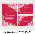 wedding invitation  thank you... | Shutterstock .eps vector #578255683