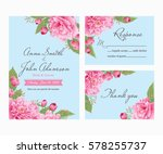 wedding invitation  thank you... | Shutterstock .eps vector #578255737