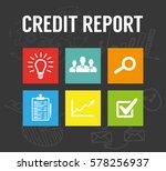 credit report | Shutterstock .eps vector #578256937