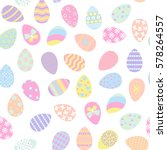 seamless pattern with easter... | Shutterstock .eps vector #578264557