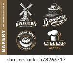 set bread logo   vector... | Shutterstock .eps vector #578266717