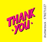 thank you card. hand drawn... | Shutterstock .eps vector #578271127