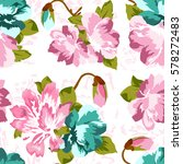 seamless pattern floral. pink... | Shutterstock .eps vector #578272483