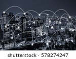 network connected city concept... | Shutterstock . vector #578274247