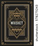 old whiskey label with vintage... | Shutterstock .eps vector #578275243
