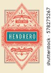 old whiskey label  | Shutterstock .eps vector #578275267
