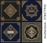set whiskey labels. vector | Shutterstock .eps vector #578277943