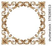 vintage baroque ornament retro...