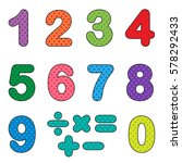 numbers from zero to nine with... | Shutterstock .eps vector #578292433