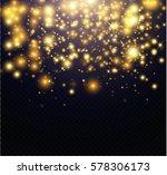 vector glitter particles... | Shutterstock .eps vector #578306173