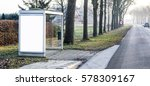outdoor bus stop billboard... | Shutterstock . vector #578309167