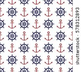 nautical seamless pattern with... | Shutterstock .eps vector #578312893