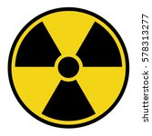 radioactive danger sign  | Shutterstock .eps vector #578313277