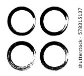 grunge circle with brush. set... | Shutterstock .eps vector #578315137