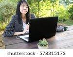 charming beautiful tan skin... | Shutterstock . vector #578315173