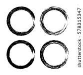 grunge circle with brush. set... | Shutterstock .eps vector #578315347