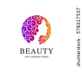 beauty salon vector logo... | Shutterstock .eps vector #578317537