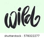 wild hand lettering