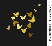 heart of butterflies valentine... | Shutterstock .eps vector #578350837