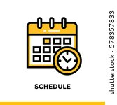 linear schedule icon for... | Shutterstock .eps vector #578357833
