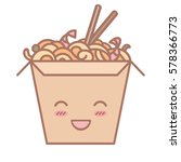 cute cartoon wok box icon or... | Shutterstock .eps vector #578366773