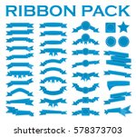 big set of embroidered blue... | Shutterstock . vector #578373703