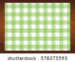 green gingham placemat on a...   Shutterstock . vector #578375593