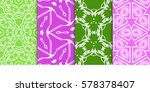 set of seamless decorative... | Shutterstock .eps vector #578378407