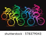 peleton cycle race rainbow...