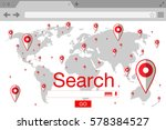 flat style browser search... | Shutterstock . vector #578384527