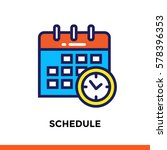 linear schedule icon for... | Shutterstock .eps vector #578396353