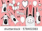 cute pink rabbit and balloons...