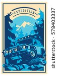 off road car logo  safari suv ... | Shutterstock .eps vector #578403337