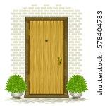 wooden door | Shutterstock .eps vector #578404783