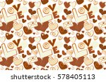 Cute Seamless Pattern For Kids...