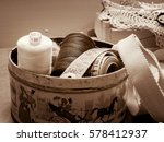 spools of thread to sew in an... | Shutterstock . vector #578412937