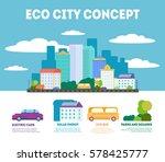 ecological green city concept... | Shutterstock .eps vector #578425777