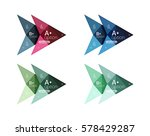 colorful arrow option... | Shutterstock .eps vector #578429287
