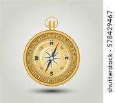 gold compass | Shutterstock .eps vector #578429467