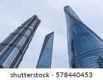 shanghai tower  world financial ... | Shutterstock . vector #578440453