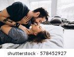love story. in love couple hug... | Shutterstock . vector #578452927