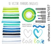 watercolor markers brush... | Shutterstock .eps vector #578467057