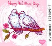 vector hand drawn illustration... | Shutterstock .eps vector #578469547