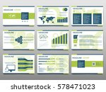 green elements for infographics ... | Shutterstock .eps vector #578471023